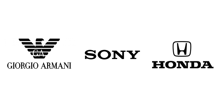 serifs in logos of famous companies