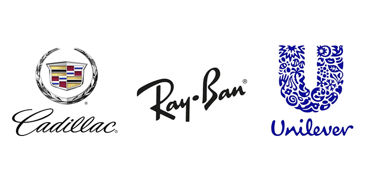 handwritten font in the logo of well-known companies