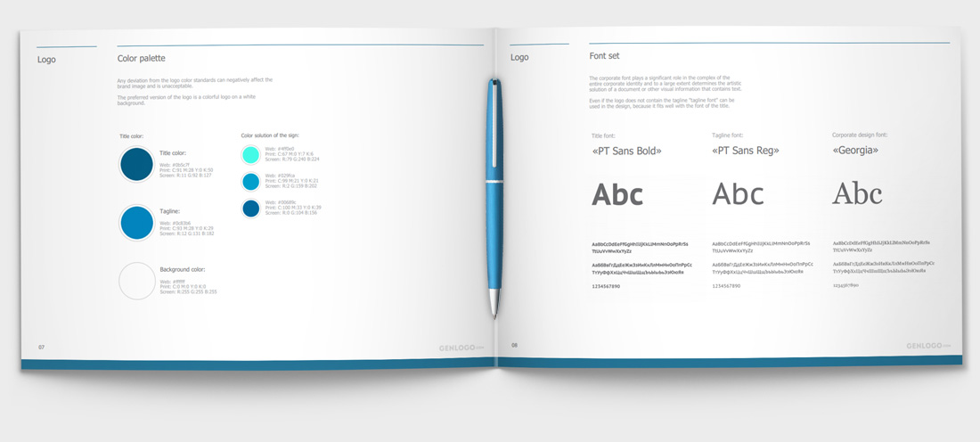 Create online professional brand book in 5 minutes. Easily!
